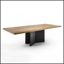 Dining Table in natural Solid Oak Wood 154-Mamba