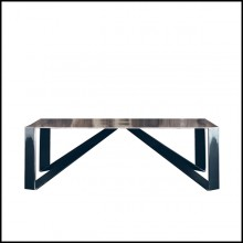 Coffee Table in steel 147-Raw Angles