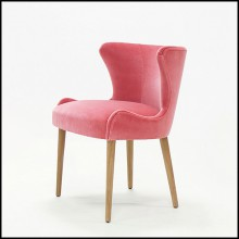 Chaise en velours Ruby Pink 176-Darling