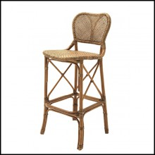 Bar Stool in natural rattan 24-Rattan Style