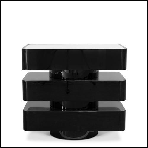 Miroir en acajou massif 119-Armor Gold Leaf