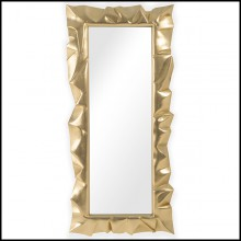 Mirror in Solid Mahogany Wood 119-Armor Gold Leaf
