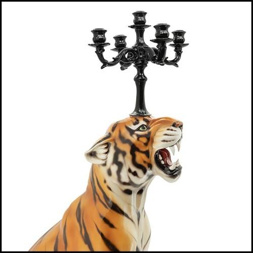 Boîte à bougie plaqué or 24 carats 172-Gold Croco