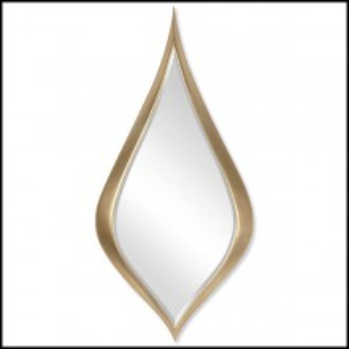 Mirror in Solid Mahogany Wood 119-Gold Drop