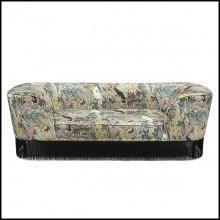 Sofa with Solid Wood structure 162-Jungle Style