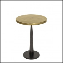 Side Table with Top in Antique Metal Finish in Brass 162-Oldies Round