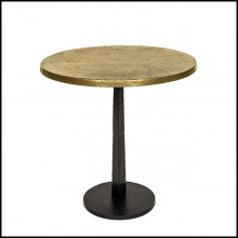 Table with Top in Antique Metal Finish in Brass 162-Oldies Round