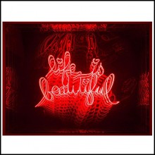 Wall Decoration Mirror with Led Lights 119-Life is Beautiful