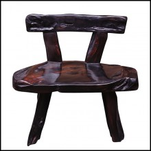 Bench with Backrest in Solid Ebony Wood PC-Ebony Thick 1
