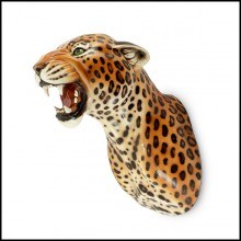 Wall Sculpture in Ceramic 162-Leopard Spotted