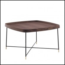 Coffee Table in Solid Walnut Wood 163-Tempa Large
