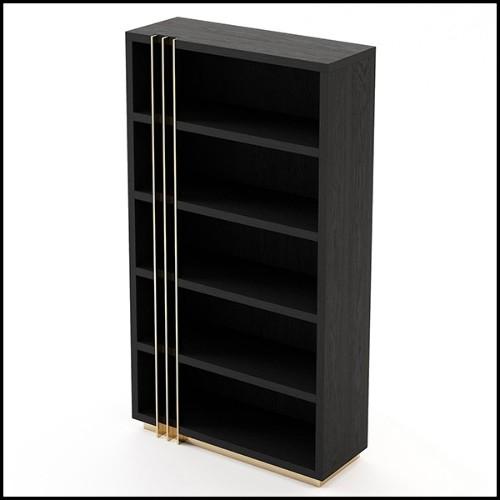 Coffee Table in Brass Leaf Finish 173-Bridge
