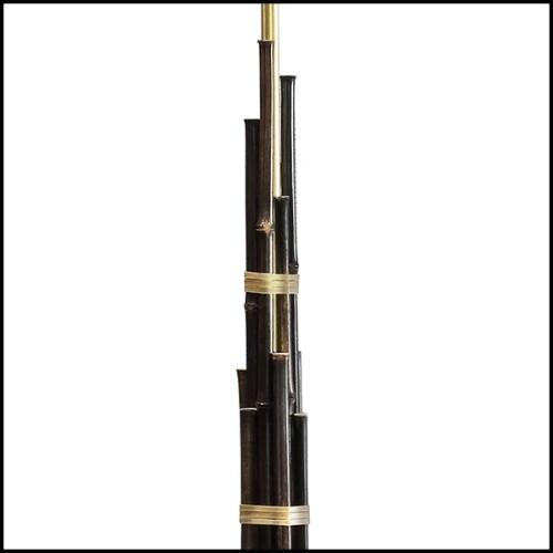Sculpture avec réel crâne et cornes de buffle PC-Buffalo Croco