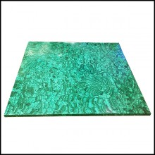Coffee Table with real malachite stones PC-Malachite