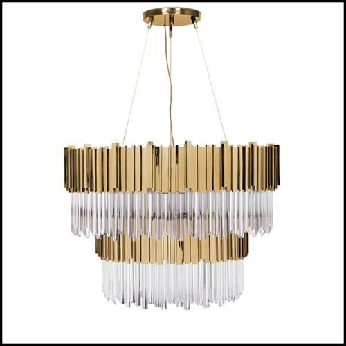 Table de repas avec plateau en placage de chêne 24-Brass Oval Black