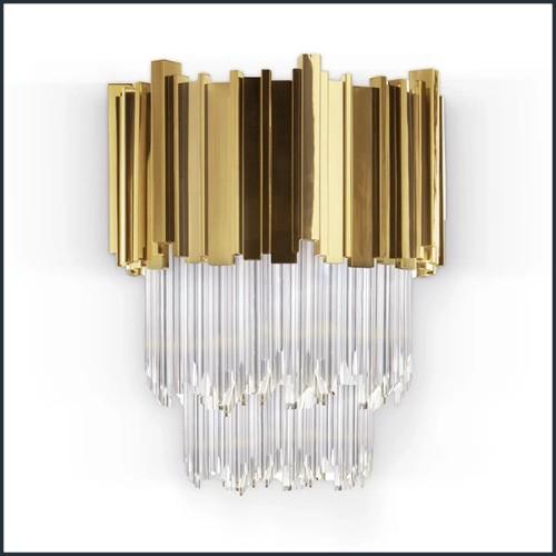 Table de repas avec plateau en placage de chêne 24-Brass Oval