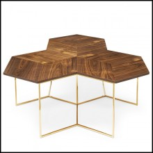 Table basse avec base en finition gold 162-Bumble Nest
