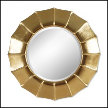 Mirror with Gold Leaf paint 119-Sunny Parts