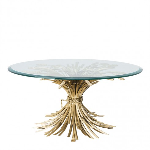 Coffee Table In Antique Gold Finish