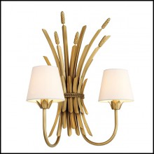 Wall Lamp in antique Gold finish 24-Bonheur
