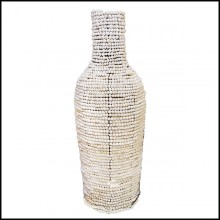 Vase handmade in metal structure PC-Argile Balls Medium