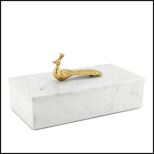 Miroir avec cadre en métal doré PC-Gilded Double Palmer