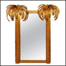 Mirror with frame in golded metal PC-Gilded Double Palmer