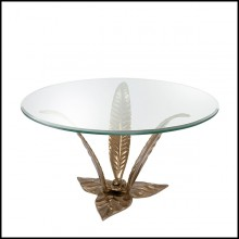 Coffee table in Solid Brass 24-Planting