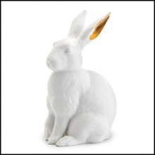 Sculpture in porcelain 172-White Rabbit