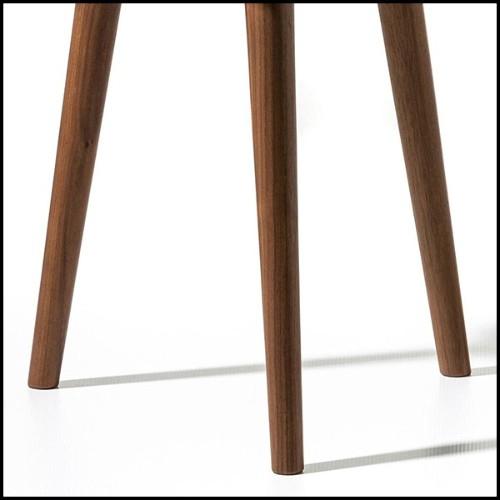 Mirror in solid mahogany wood 119-Golden Teeth