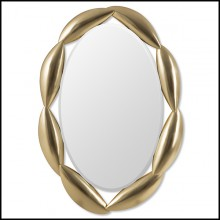 Miroir en acajou massif 119-Necklace Gold