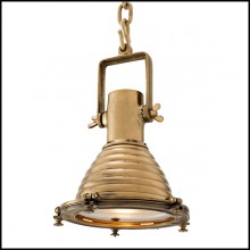 Suspension in brass in vintage finish or nickel 24-La Marina
