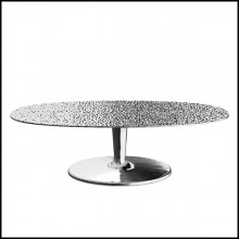 Table basse en aluminium moulé poli 30-Alu Drops