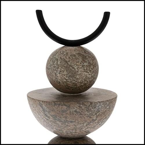 Chaise en fonte d'aluminium poli 30-Dotted