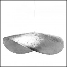 Suspension finition nickel 30-Leaf Silver Large or Medium