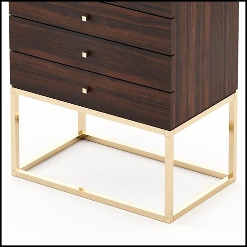 Console avec structure en verre et Epoxy teinté PC-Pola