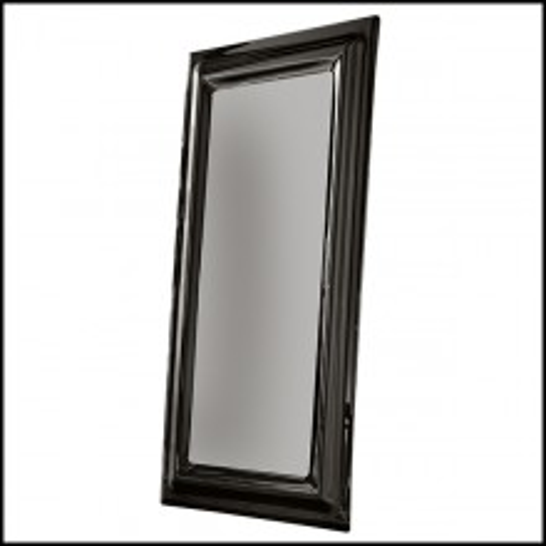 Miroir avec cadre en verre cintré fumé 146-Smocked Black Rectangular