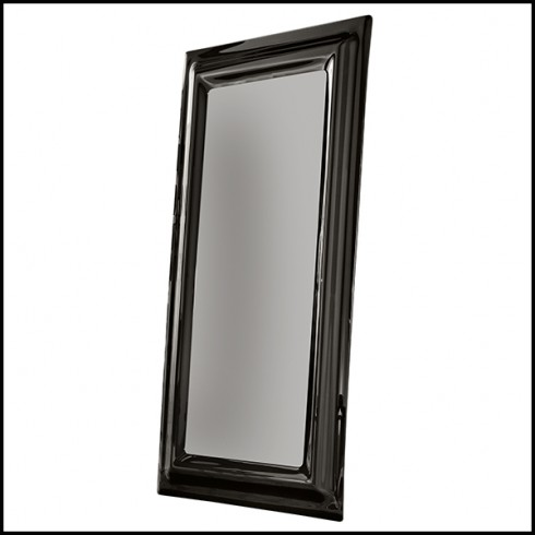 Mirror With Smoked Fused Glass Frame, Full Length Mirror Black Trim