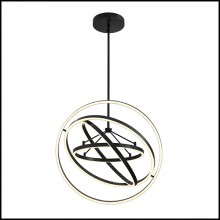 Chandelier in bronze finish with integrated LED lights 24-Cassini