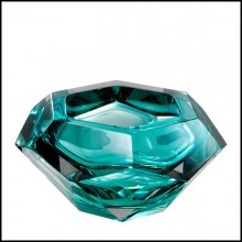 Bowl in crystal glass 24-Las Hayas Turquoise