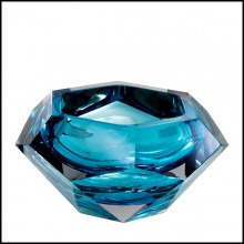 Bowl in crystal glass 24-Las Hayas Blue