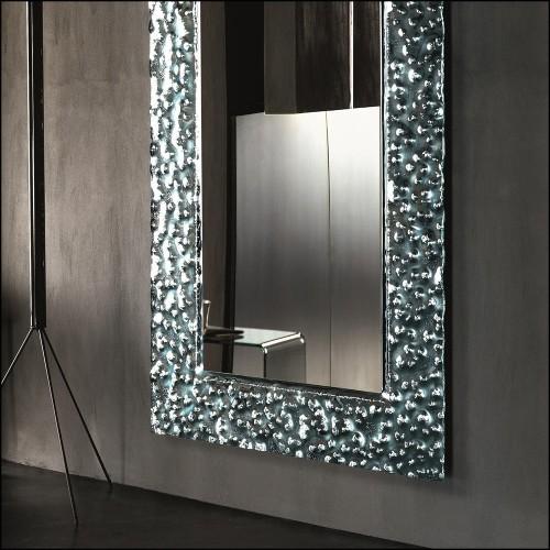 Miroir en bois massif peint à la feuille d'or 119-Crown