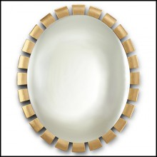 Mirror in solid wood in Gold Leaf 119-Crown