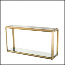 Console in stainless steel in brushed brass finish 24-Callum.