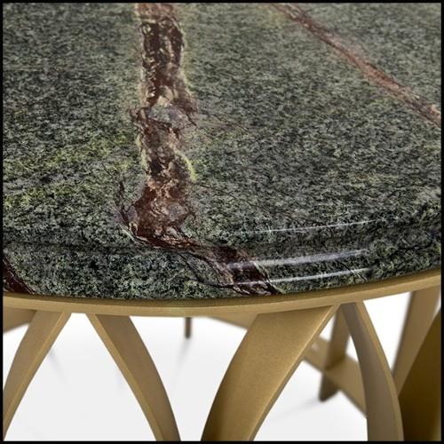 Table basse en acier inoxydable et plateau en verre fumé noir 24-Courrier