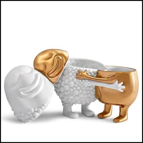 Lampe avec structure en laiton et base en granite 24-Edition