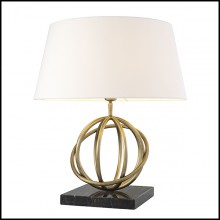 Table Lamp with structure in brass and base in granite 24-Edition