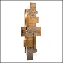 Wall Lamp in stainless steel in vintage brass finish 24-Langham