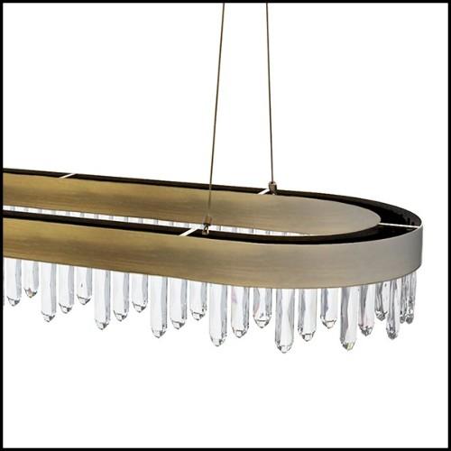 Chaise avec structure en laiton et tissu velours coloris Dark 24-Kinley Dark