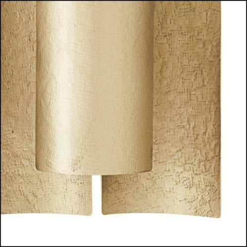 Sculpture bougeoir en porcelaine blanche avec détails en laiton 162-Zebra